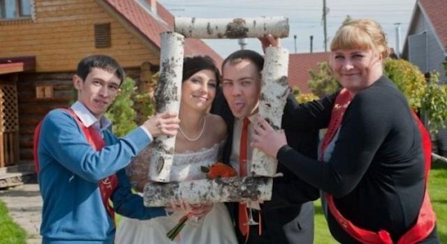 Bizarre Eastern European Wedding Photographs