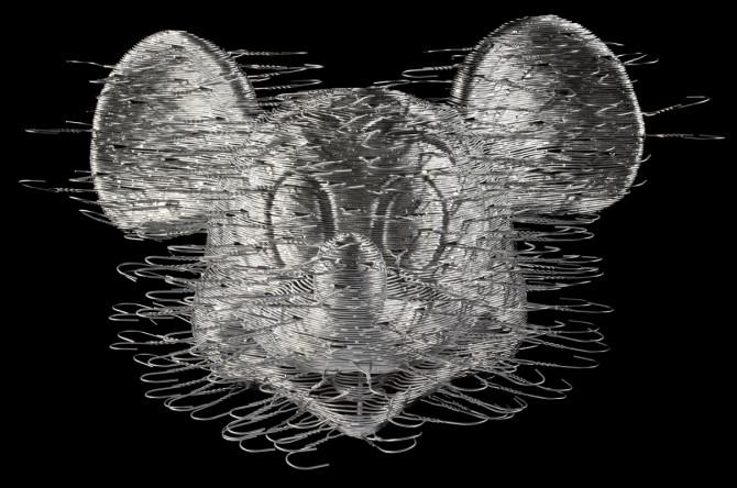 David Mach - Coathanger Art - Mickey Mouse