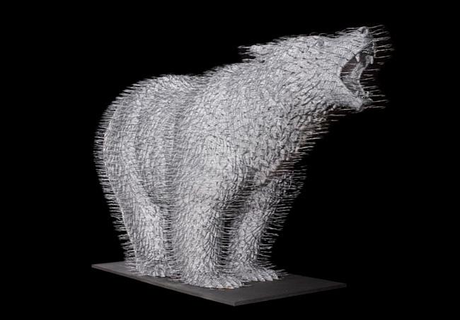 David Mach - Coathanger Art - Wild Thing 2009