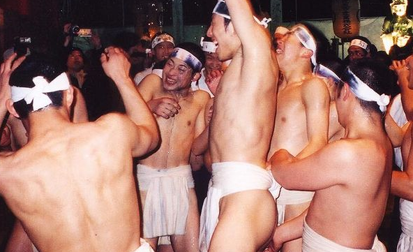 Hadaka Matsuri - Japanese Naked Festival - fight