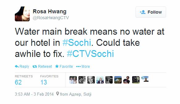 Journalist Live Tweet - Sochi - CTV