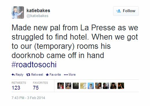 Journalist Live Tweet - Sochi - katiebakes