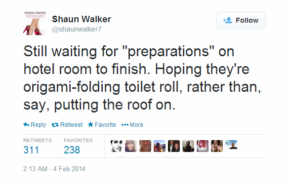 Journalist Live Tweet - Sochi - sean walker