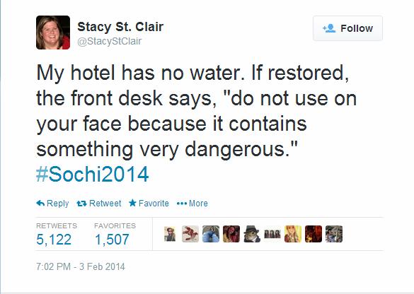 Journalist Live Tweet - Sochi - stacy st clair
