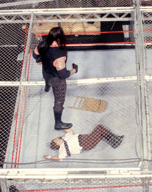 Mankind Undertaker Hell In A Cell 8