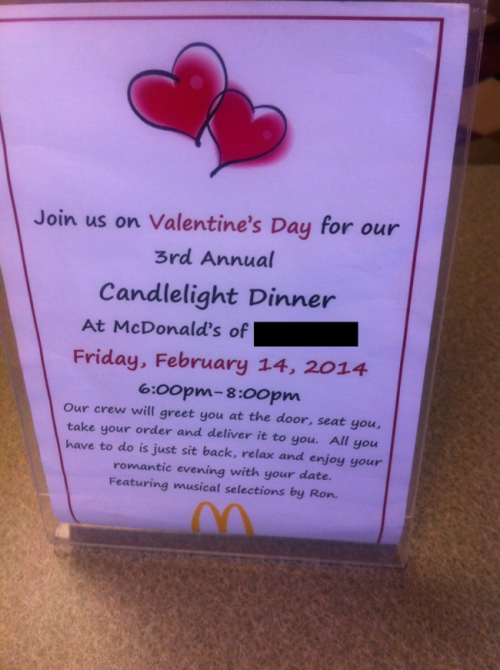 where to go this valentine's day? how about mcdonalds? – sick chirpse, Ideas