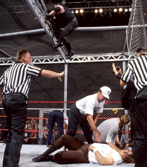 Undertaker Mankind Hell In A Cell 22