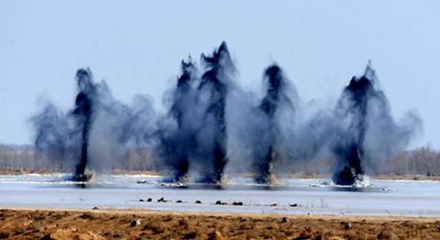 China Bomb Yellow River Explosions 2