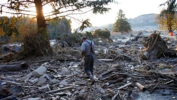 Mudslide - Snohomish County - Oso - rubble