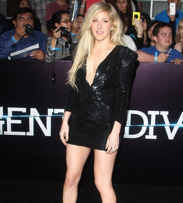 Non-News - Ellie Goulding watches a film
