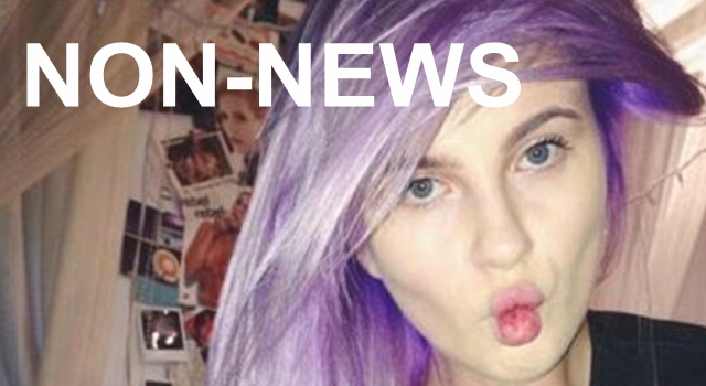 Non-news - Ireland Baldwin Purple Hair
