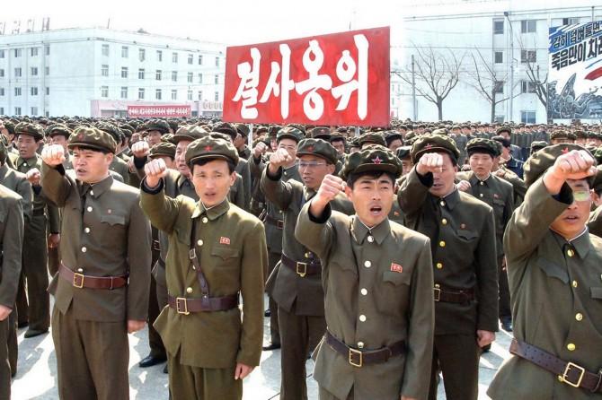 North Korea Political Prisoner - soldiers