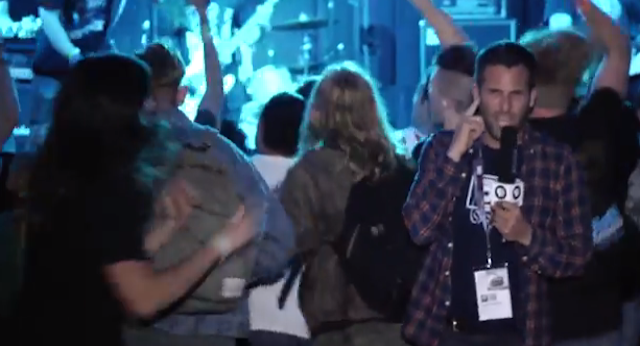 PBS Reporter Beat Up In Mosh Pit