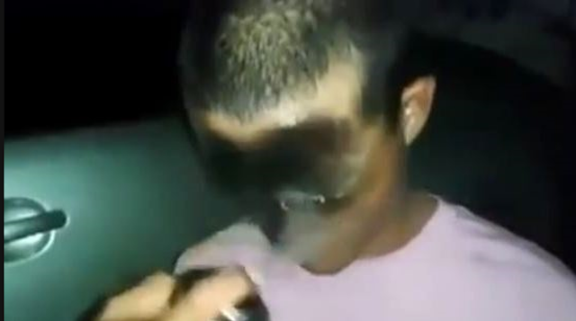 Police Spray Paint Guy's Face