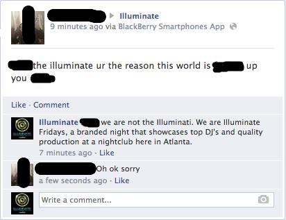 illuminati Facebook exchange