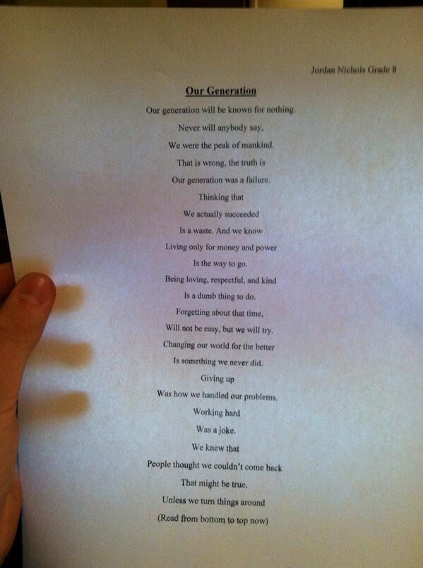 Amazing 8th Grade Poet