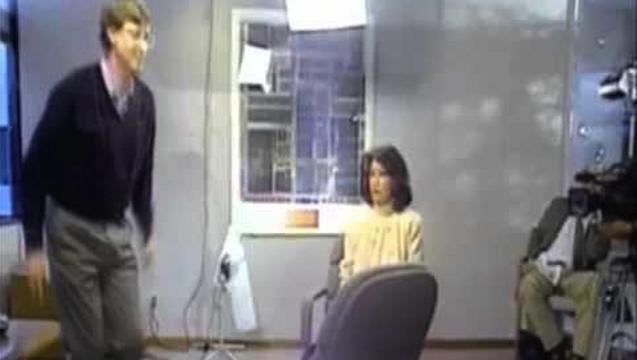 Bill Gates Gangster Chair Jump