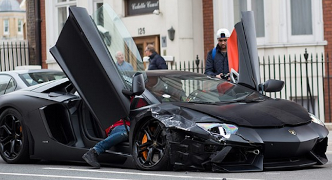 Crashed Lamborghini