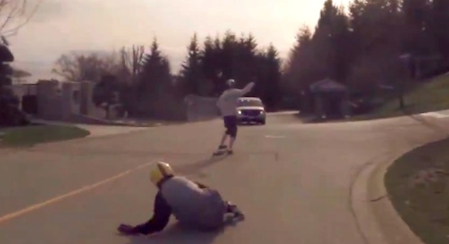 Longboard Crash