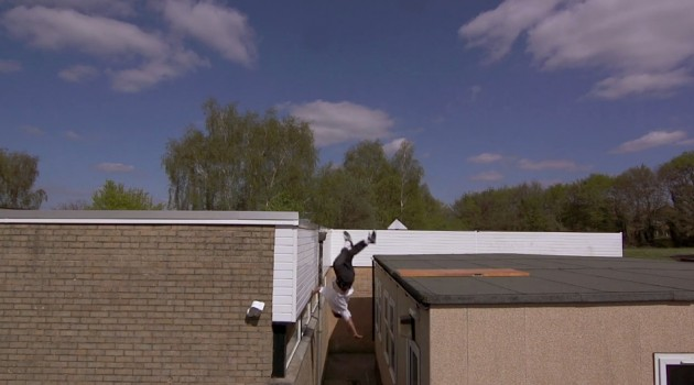 Luke Jones 15 Foot Rooftop Slam