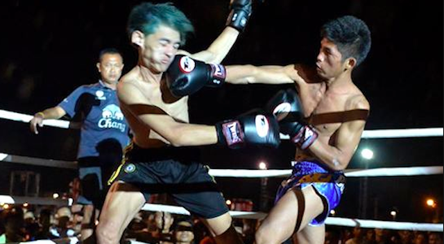 Muay Thai Fighters Beat Up Gang Members