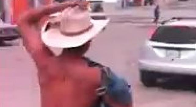 Naked Man Running Through Tijuana