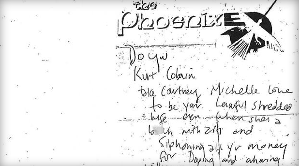 Kurt Cobain Note Wallet Death