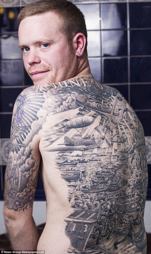 Bristol Man Gets Entire D Day Landing Tattooed On His Back