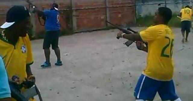 Brazilian Bandits Fire AK47