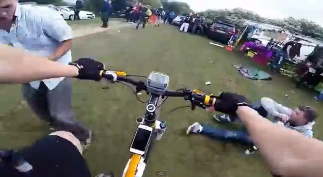 Cyclist Interrupts Rave