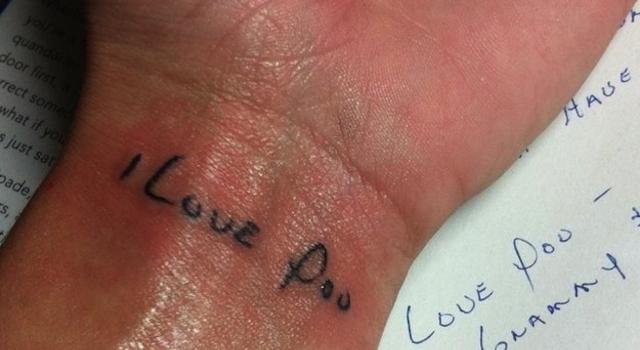 I Love Poo Tattoos