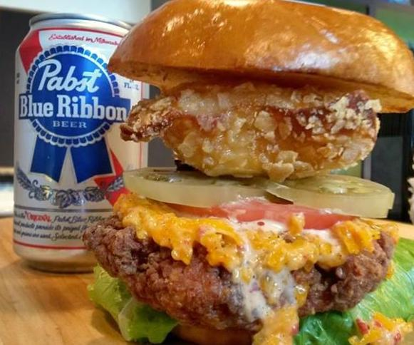 PYTs-Fried-Chicken-Beer-Burger-includes-a-fried-wonton-filled-with-PBR-beer_lg