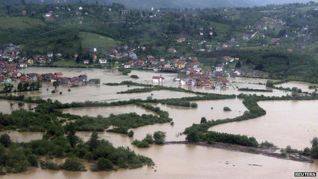 Serbia Bosnia Floods - Sarajevo