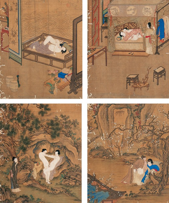 Ancient Chinese Erotica - 4 panels