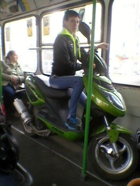 Awesome Photos From Russia With Love - bike on a bus