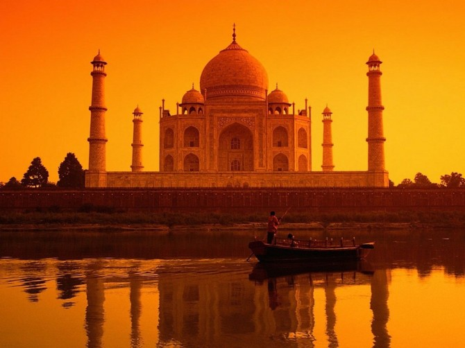 Best Sunsets Taj Mahal India