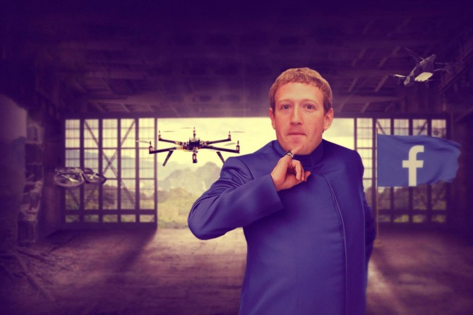 Facebook Experiment - Mark Zuckerberg drones