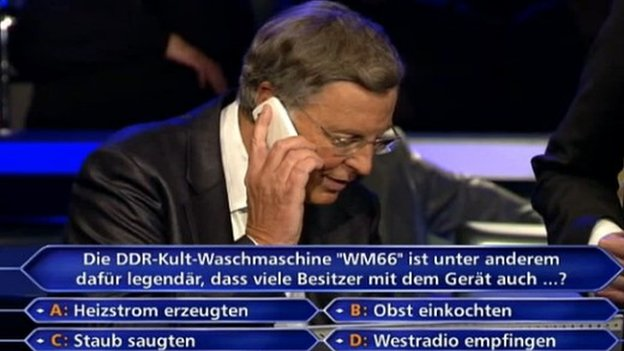German Politician Phone A Friend Who Wants To Be A Millionaire Angela Merkel