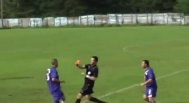 Romanian Player Headbutts Referee