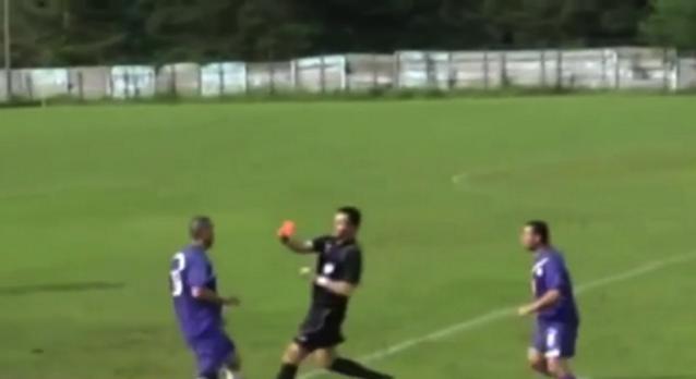 Romanian Player Headbutts Referee