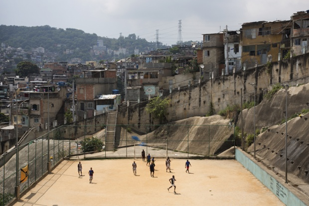 Community football pitch in Sao Carlos favela