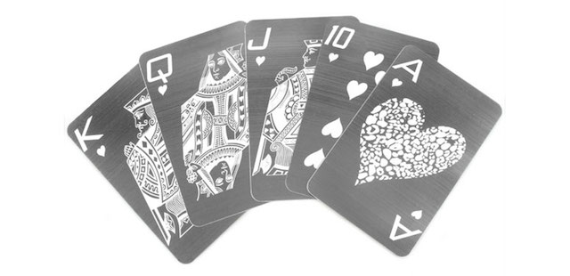 metal playing cards