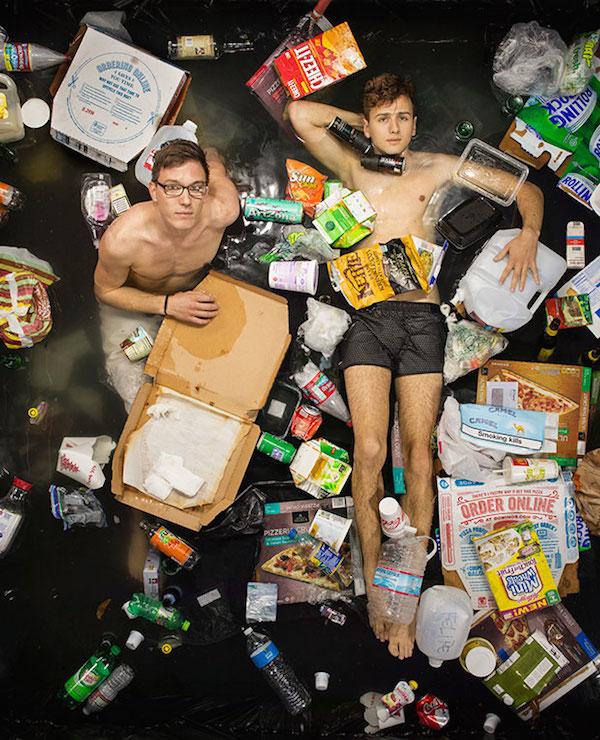 Americans Lying In Trash 6