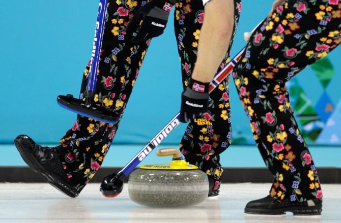 Brave Trousers Bad Pants - Norway Curling Team Flowers