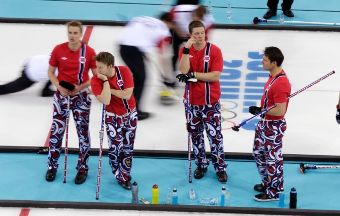 Brave Trousers Bad Pants - Norway Curling Team psychedelic
