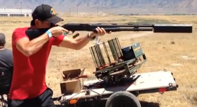 Guy Shoots Gun 9 Rounds 3 Seconds No Noise