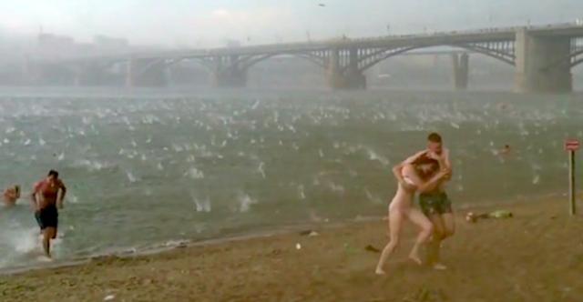 Hail Storm Russian Beach