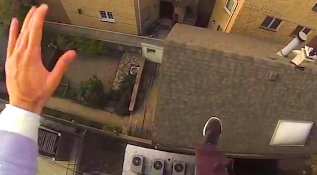 Insane Stuntman Rooftop Leap
