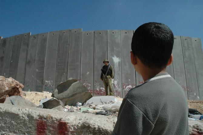 Israel Palestine - west bank border