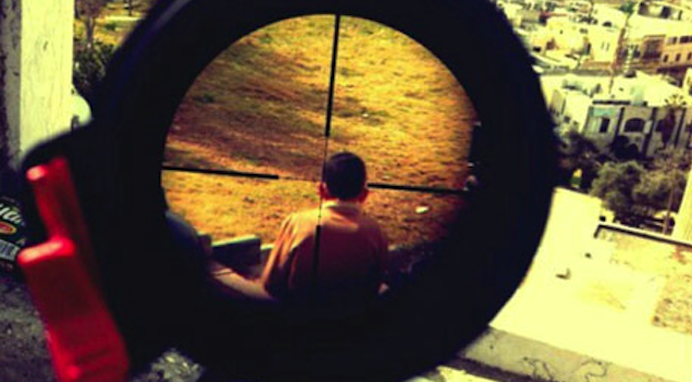 Israeli Sniper Rifle Palestinian Child Crosshairs